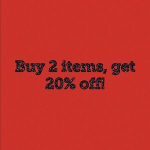 Tops - get 20% off with 2 items!